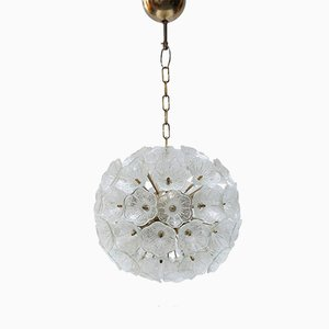 Murano Glass Flower Chandelier from Murano, 1960s
