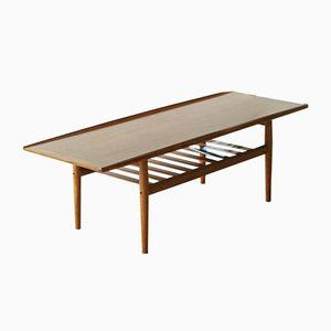 Table Basse en Teck Massif par Grete Jalk pour Glostrup, Danemark, 1960s