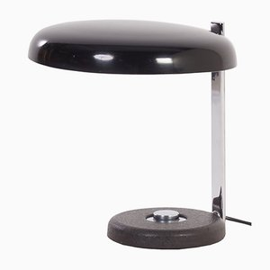 Black Oslo Desk Lamp by Heinz Pfaender for Hillebrand, 1960s
