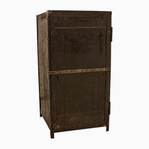 Antique Workshop Cabinet in Steel Sheeting