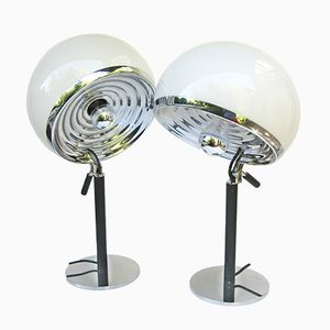 Model Bino Table Lamps by Gregotti Associati, Lodovico Meneghetti, and Giotto Stoppino for Candle, 1968, Set of 2