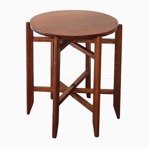 Tavolo pieghevole in legno, anni '50