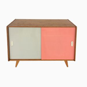 Small Pink and Gray Sideboard by Jiri Jiroutek for Interier Praha, 1960s