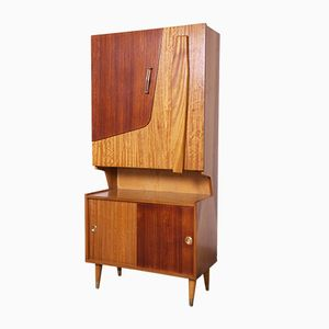 Multi-Wood Space-Saving Cabinet, 1960s