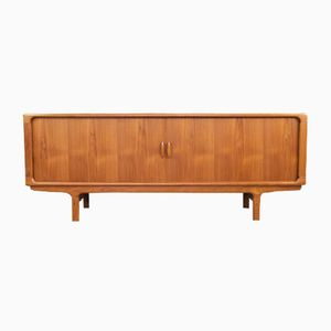 Mid-Century Danish Teak Sideboard with Tambour Doors from Dyrlund