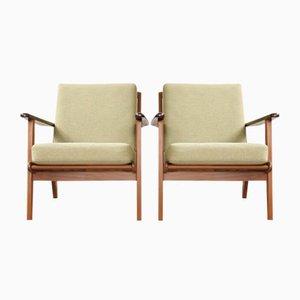 Mid-Century Danish Teak Easy Chairs by Aage Pedersen for Getama, Set of 2