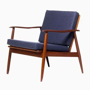 Vintage Danish Teak Easy Lounge Chair, 1960s