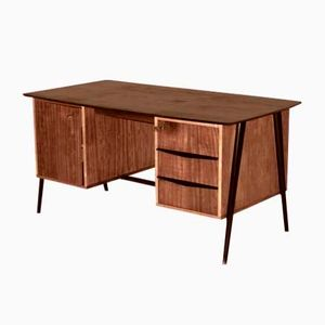 Bubinga Veneered Desk by Alfred Hendrickx for Belform, 1950s