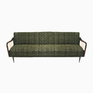 Mid-Century German Green Sofa Bed, 1960s