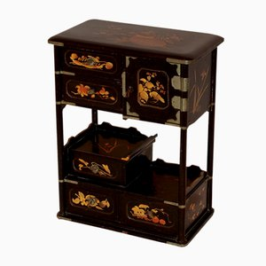 Antique Chinese Miniature Lacquered Wardrobe