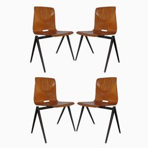 Industrielle Vintage Esszimmerstühle von Galvanitas, 1967, 4er Set