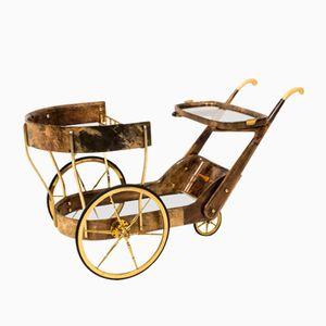 Chariot de Service Mid-Century par Aldo Tura, Italie