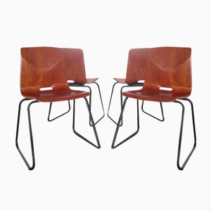 Vintage Industrial Thur-Op-Seat Chairs from Galvanitas, Set of 4