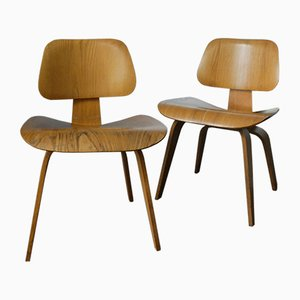 DCW Chairs by Charles & Ray Eames for Herman Miller, 1950s, Set of 2