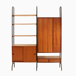 Teak Bookcase with Bar, 1960s