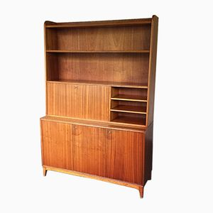 Vintage Swedish Bookcase with Secretary