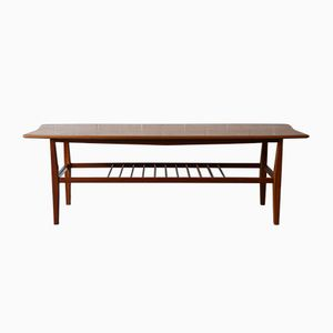 Walnut and Sycamore Coffee Table, 1950s