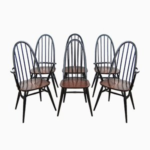 Quaker Back Windsor Armchairs by Lucian Ercolani for Ercol, 1970s, Set of 6