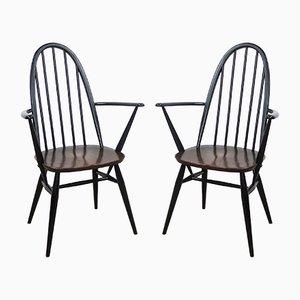 Vintage Quaker Back Windsor Sessel von Lucian Ercolani für Ercol, 1970er, 2er Set