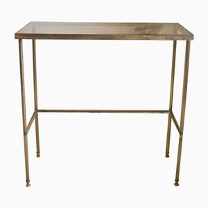 Vintage French Gilt Brass & Glass Console Table