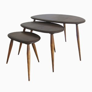 Vintage Nesting Pebble Tables by Lucian Ercolani for Ercol, 1950s