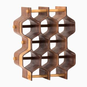 Rosewood Bottle Rack by Torsten Johansson for AB Formträ, 1950s