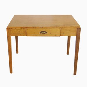 Vintage English Military Desk in Oak, 1930s