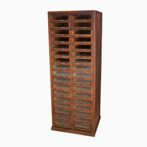 French Oak Haberdashery Shop Cabinet, 1930s