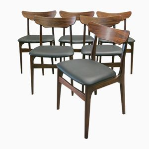 Rosewood and Teak Dining Chairs from Schionning & Elgaard, 1960s, Set of 6