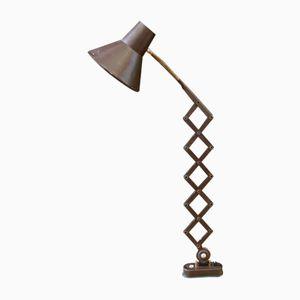 Vintage Industrial Brown Scissor Lamp