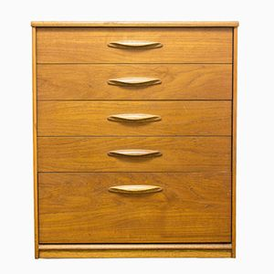 Tall Mid-Century Teak Chest of Drawers from Austinsuite