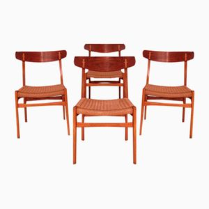 Vintage CH-23 Chairs by Hans Wegner for Carl Hansen & Søn, Set of 4