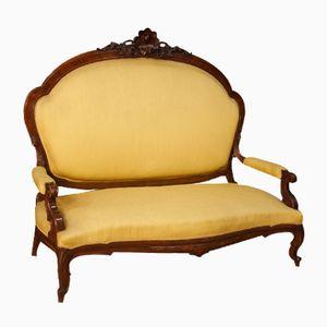 Antikes Sizilianisches Sofa aus Walnuss, 1870er