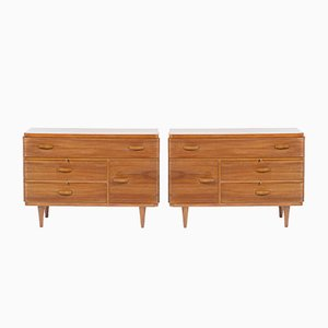 Mid-Century Italian Cabinets by Gherardo Bosio for Fagioli, 1940s, Set of 2