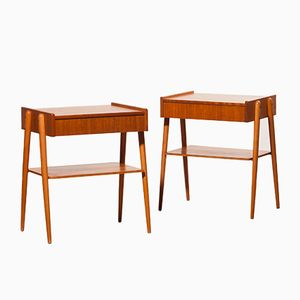 Bedside Tables in Teak, 1960s, Set of 2