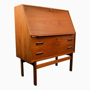 Mid-Century Model 68 Teak Secretaire by Arne Wahl Iversen for Vinde Møbelfabrik