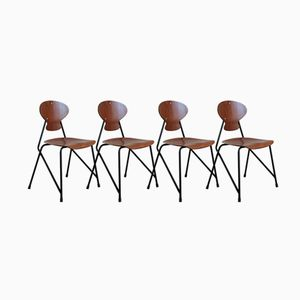 Italian Chairs from Isa, 1960s, Set of 4