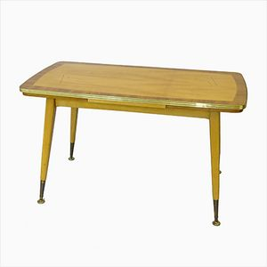 Dining or Coffee Table with Golden Finish, 1970s
