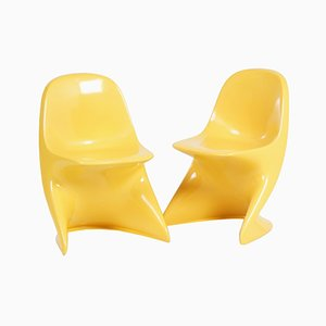 Yellow Casalino Children's Chairs by Alexander Begge for Casala, 1970s, Set of 2