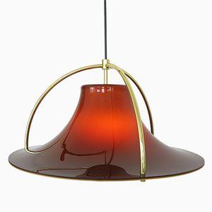 Lampe à Suspension Modèle Single en Acrylique et Laiton par Jo Hammerborg pour Fog & Mørup, 1970s
