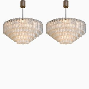 Large Five-Tier Chandeliers from Doria, 1965, Set of 2