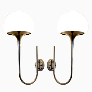 Mid-Century Italian Wall Lamps by Goffredo Reggiani, Set of 2