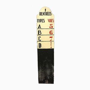 Doppelseitig Bemaltes Vintage Zug Schild aus Blech