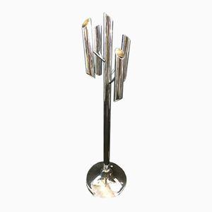 Mid-Century Chromed Floor Lamp by Goffredo Reggiani