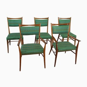 Dining Chairs in American Walnut by Paul McCobb, 1950s, Set of 5