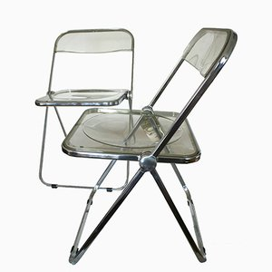 PLIA Stühle von Giancarlo Piretti für Castelli, 1960er, 2er Set