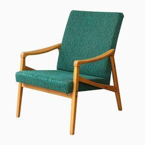 Mid-Century Forest Green Armchair