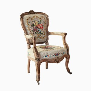 Antique Armchair with Floral Bouquet Mosaic by Yukiko Nagai, 2015