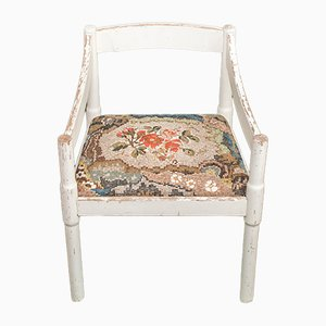White Chair with Fabric Patterned Mosaic by Yukiko Nagai, 2013