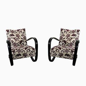 Vintage Art Deco H269 Lounge Chairs by Jindrich Halabala, Set of 2